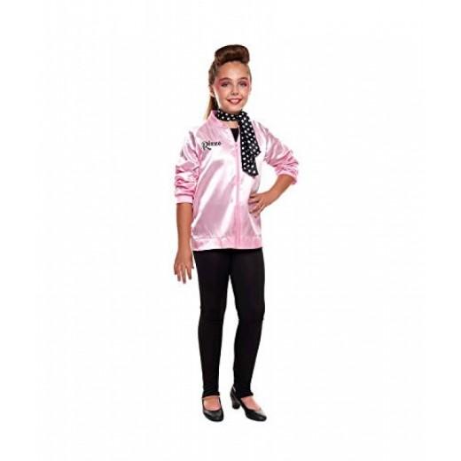 Disfraz de Pink babies infantil chaqueta rosa baby con pañuelo años 70´s