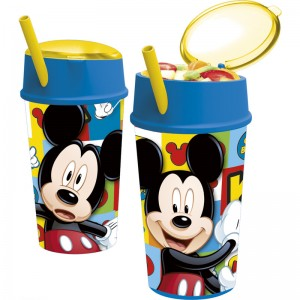 VASO de SNACK de mickey mouse para beber y comer 400ML MICKEY ICONS