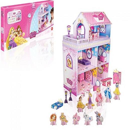 Casa de Princesas Disney Mansión Palace Pets maqueta de cartón con Accesorios