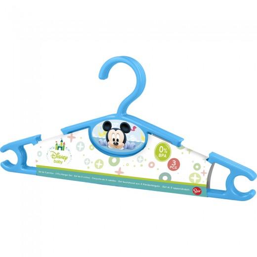SET de 3 PERCHAS de MICKEY Mouse BABY azules par ropa armario