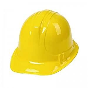 pack de 6 Gorros de albañil para disfraz de obrero amarillo casco de obra