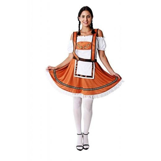 Disfraz de Alemana Adulto Traje para fiestas Alemán Mujer Tirolesa Talla Unica