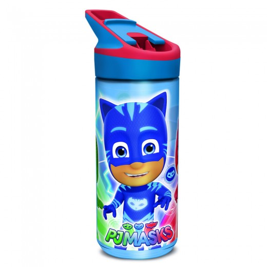 BOTELLA de dibujos PJ MASKS Azul con bebedor boquilla TRITAN PREMIUM 620 ML