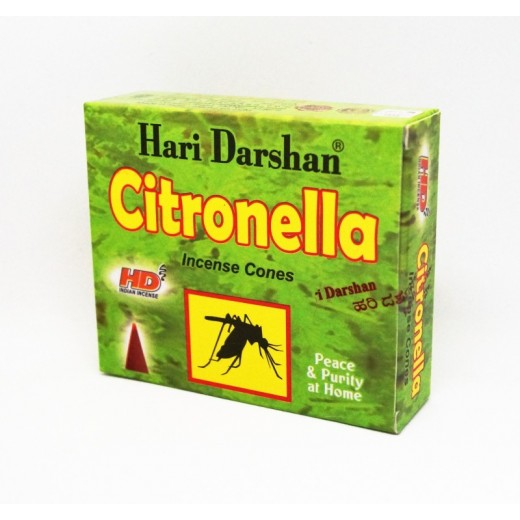 10 Conos de incienso antimosquitos citronela Hari Darshan anti mosquitos