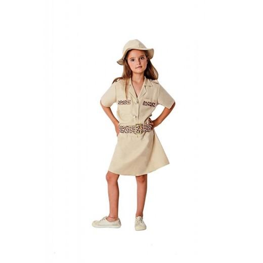 Disfraz de exploradora infantil de africa tipo Diane Fossey