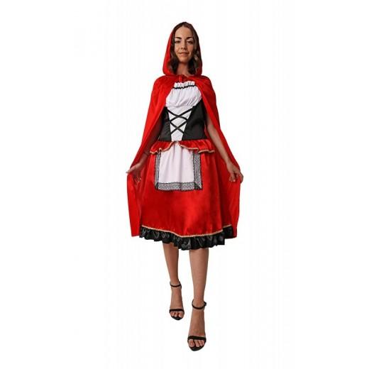 Disfraz de caperucita roja para mujer adulto talla unica con capa