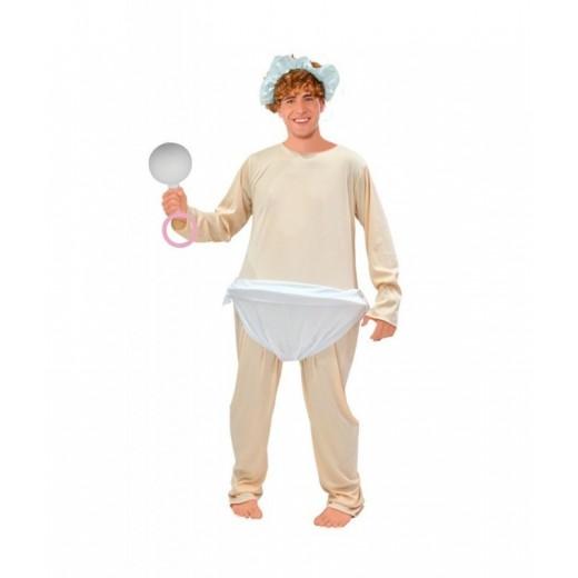 Disfraz de bebe llorón traje para despedida de soltero de bebe con pañal