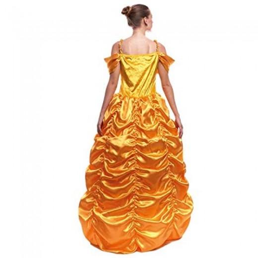 Disfraz de Princesa bella vestido amarillo princesa principe bestia carnaval