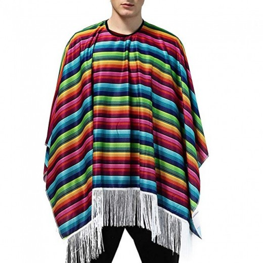 Capa tunica Mexicano poncho disfraz mejico de mejicano