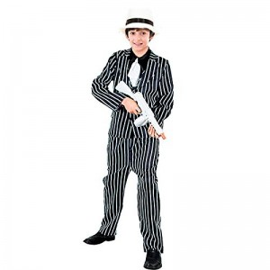 Disfraz de Gangster de la mafia con tirantes traje ganster El padrino infantil
