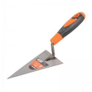 Espátula paleta triangular de hierro profesional para construcción con punta