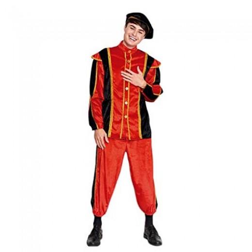 Disfraz de Trovador medieval carnaval traje rojo de epoca historico