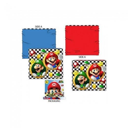 Braga para cuello de Super Mario Bros con careta reversible bufanda y luigi