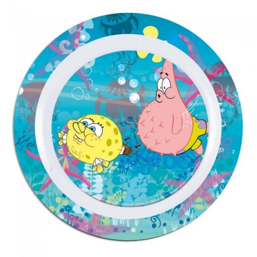 Plato de bob esponja de melamina con los dibujos de bob y patricio infantil