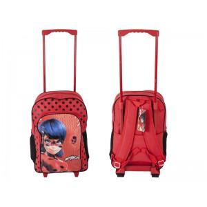 Mochila de ladybug para colegio grande con carro roja maleta Grande