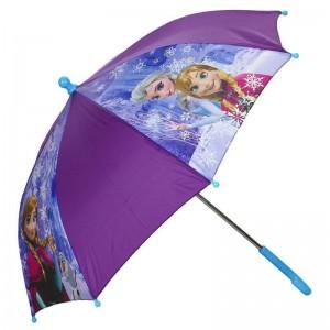 Paraguas de Frozen Elsa y Anna Morado con agarre Azul color lila 40 cm