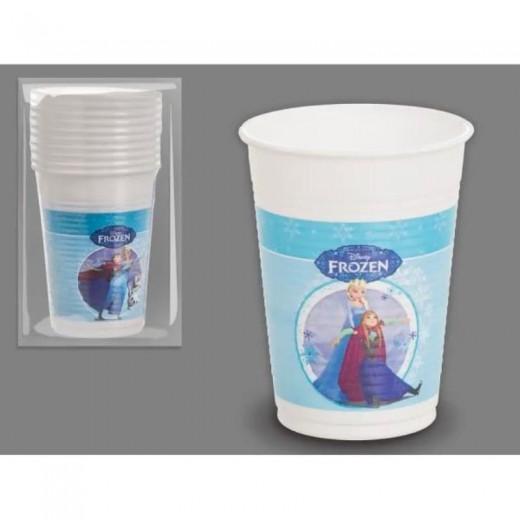 Pack 10 vasos de Frozen Elsa Anna y Olaf de cumpleaños pequeños