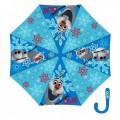 Paraguas de Frozen Olaf muñeco de nieve con agarre Azul color azul 40 cm