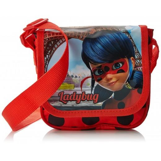Bolso Bandolera de Ladybug Miraculous Original Roja con cinta bolso