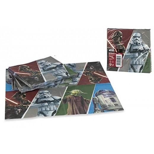 20 Servilletas de Star Wars de 33 cm para fiestas de papel cumpleaños