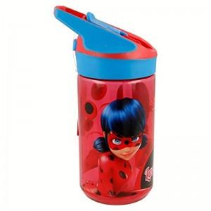 Botella tritan de Ladybug para agua con boquilla automatica bebedor 480 ml