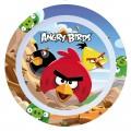 Plato de Angry Birds de melamina con los dibujos de pajaros infantil 22 cm