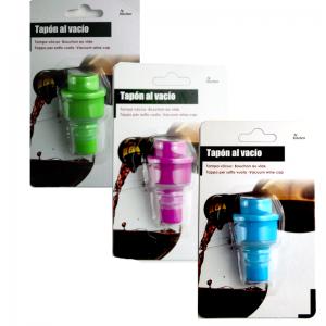 Tapon al vacio para botellas de vino vaciador de aire de botellas varios colores