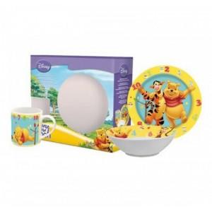 Set Estuche de Winnie the Pooh Cuenco plato y taza de Cerámica