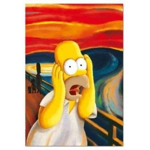 Puzzle de los Simpsons el Grito 500 piezas Homer Simpsons mediano