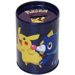 Hucha de Pokemon dibujos de pikachu 7x11 cm azul pequeña con tapadera