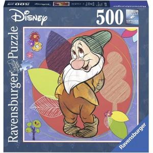 Puzzle Blanca nieves Enanito Timido de 500 piezas puzzle pequeño Disney