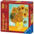 Puzzle de cuadro arte Van Gogh de Los Girasoles de 300 piezas pequeño