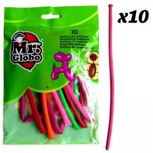 bolsa de Globos para hacer figuras globos de modelar formas de colores largos