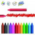 12 Ceras grandes triangulares de colores super resistentes color intenso