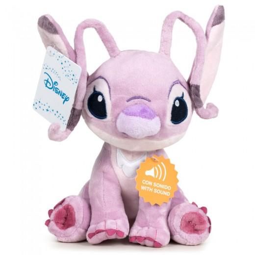 Peluche de Angel novia de Stitch Disney con sonido 30 cm Angel que habla Rosa