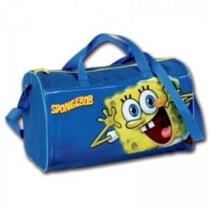 Bolsa de deporte de Bob Esponja azul y amarilla para gimnasia natación ropa
