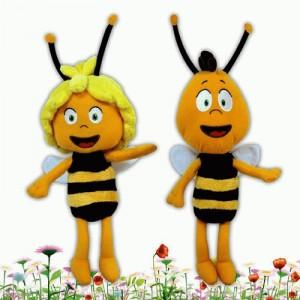 Peluche de la abeja Maya y Willy abejas juguetes Malla y su amigo peluches 28 cm