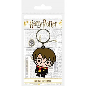Llavero de Harry Potter para llaves personaje de Harry en goma