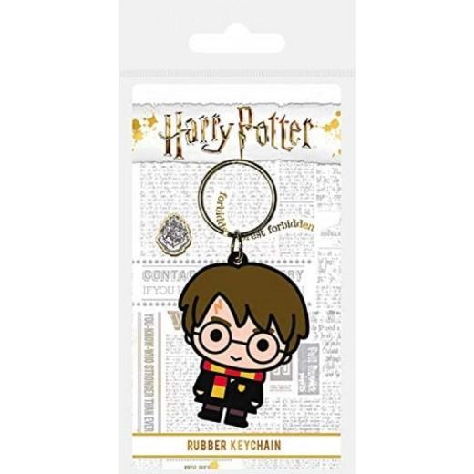 Llavero de Harry Potter para llaves personaje de Harry en goma