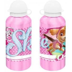 Botella de Aluminio de la patrulla canina Rosa para agua