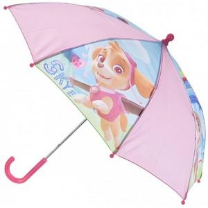 Paraguas de la patrulla canina rosa de Skye infantil para niña 40 cm