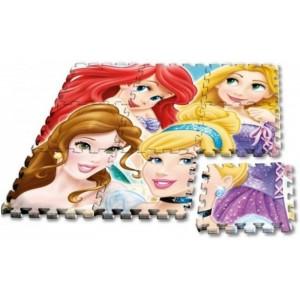 Alfombra goma EVA de Princesas disney 9 piezas puzzle para suelo 90x90 cm