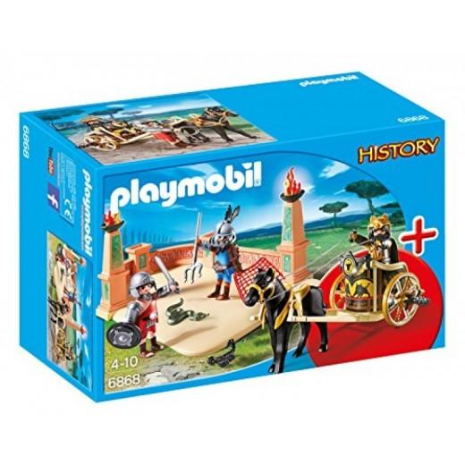 Arena de Gladiadores Playmobil History muñecos romanos luchadores guerreros