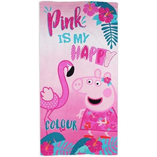 Toalla de Peppa pig rosa con flamenco secado rápido piscina y playa