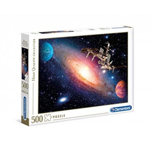 Puzzle estación internacional espacio nave espacial 500 piezas
