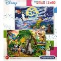 Puzzle disney Piter Pan y libro de la selva 2 puzzles de 60 piezas