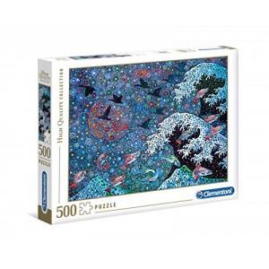 Puzzle Bailando con las estrellas 500 piezas puzzle de un cuadro pintura azul