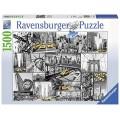 Puzzle de New York varias imagenes en blanco y negro Nueva York 1500 piezas
