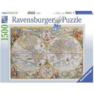 Puzzle 1500 piezas mapa del mundo antiguo 1594