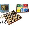 Pack tablero parchis y ajedrez con fichas cubiletes y dados